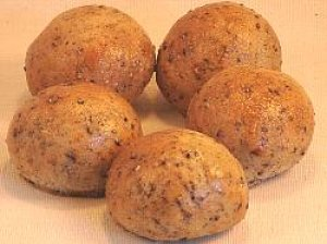 画像1: 黒胡麻パン(5個入り)