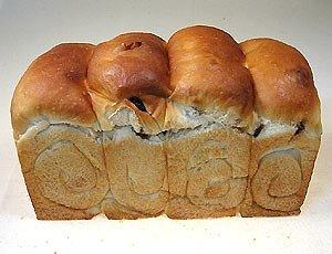画像1: オーガニックレーズン入り天然酵母の山型食パン(2斤)